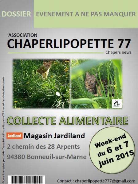 Chaper collecte jardiland bonneuil juin 2015
