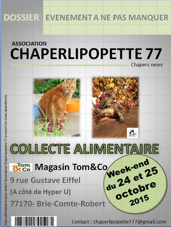 Collecte tomandco bcr 24 et 25 octobre 2015
